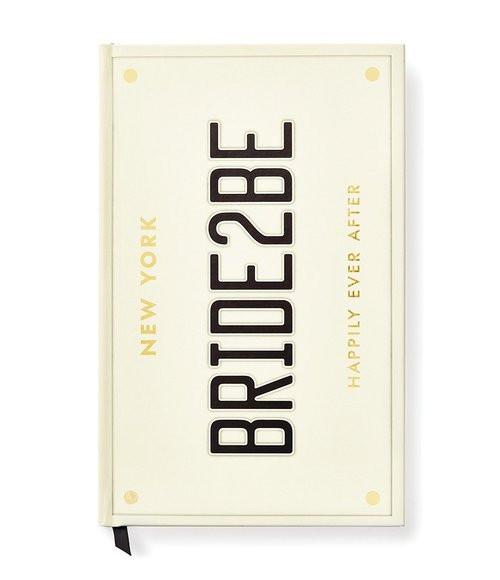 Kate Spade Bride 2 Be License Plate Wedding Notebook