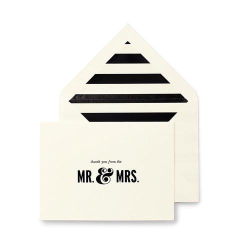 Kate Spade Bridal Note Card Set ~ Mr. & Mrs.