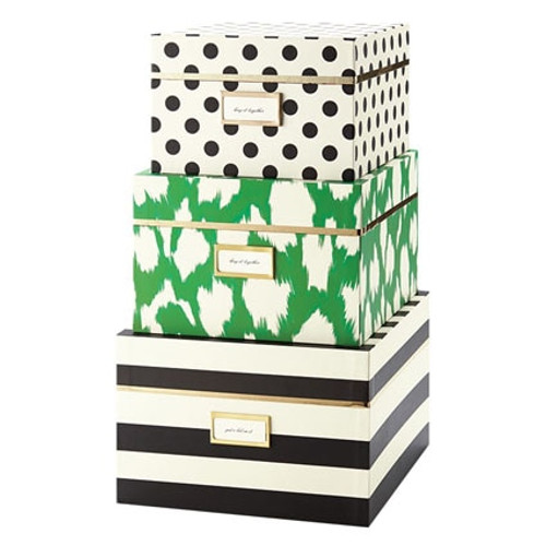 Kate Spade ~ (3) Nesting Boxes