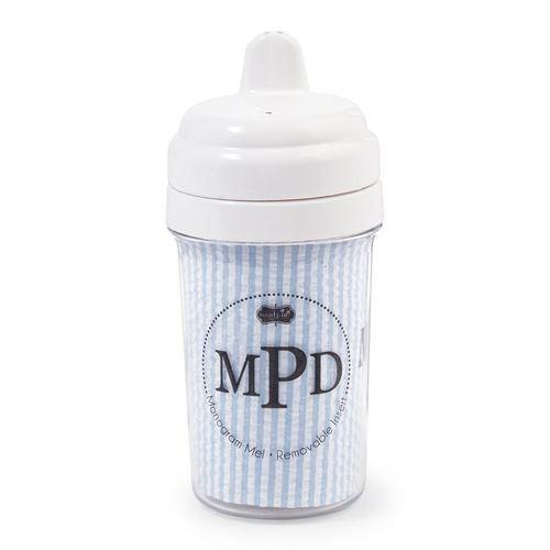 BLUE Seersucker Sippy Cup