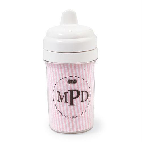 PINK Seersucker Sippy Cup