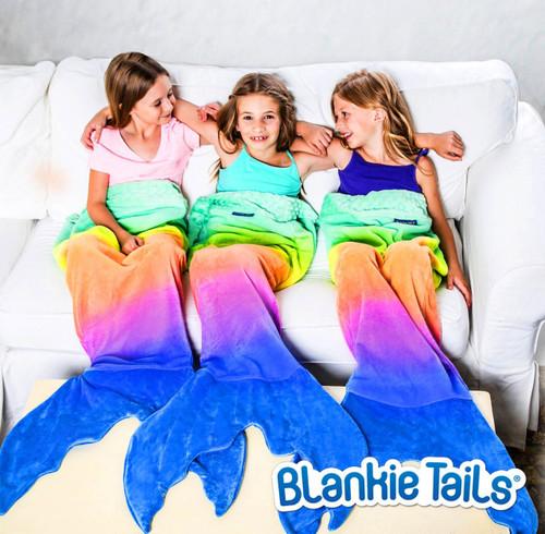 Blankie Tails Rainbow Ombre Mermaid ~ Kids Size