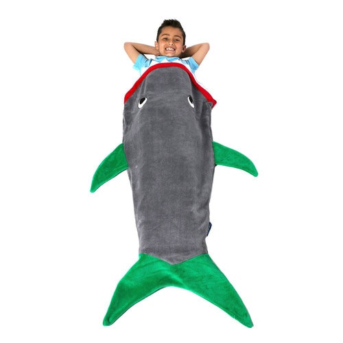 Blankie Tails Green Shark Blanket ~ Kids Size