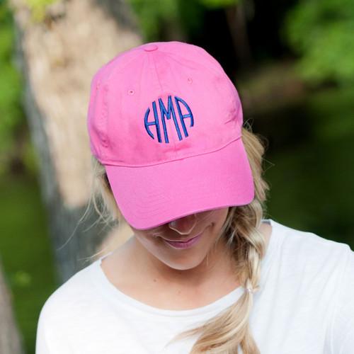 Monogrammed Cap | Hot Pink