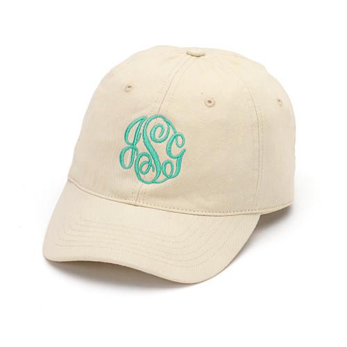 Monogrammed Cap | Natural