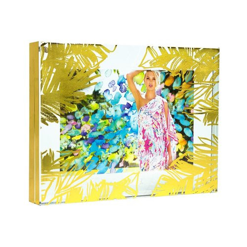 Lilly Pulitzer Photo Frame | Gold Leaves