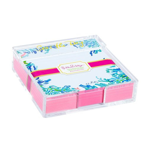 Lilly Pulitzer Acrylic Holder and Loose Notes | Wade and Sea