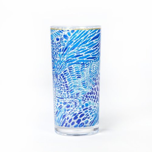 Lilly Pulitzer Acrylic Hi-Ball Glass Set | Blue Tang Gang