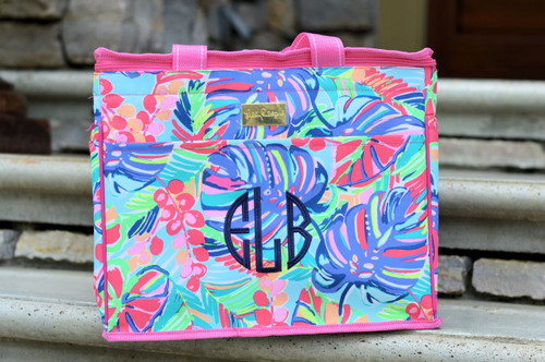 Monogrammed Lilly Pulitzer Exotic Garden Insulated Cooler