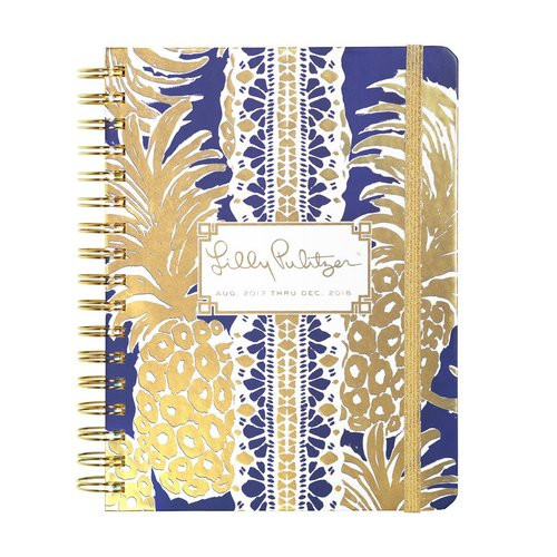 Lilly Pulitzer 2017-2018 Large Agenda - Flamenco Navy