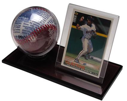 Acrylic Baseball Amp Card Holder Polynex Inc