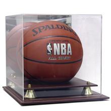 executive acrylic leather base basketball display case - Basketball Display Case