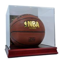 deluxe acrylic wood base basketball display case - Basketball Display Case