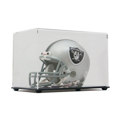 new item high clarity acrylic mini football helmet display case clear back