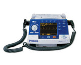 The reconditioned, Philips Heartstart XL M4735A Defibrillator Monitor, for purchase or rental features SMART Biphasic waveform for defibrillation therapy.