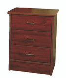 Lexington 3 Drawer Bedside Cabinet