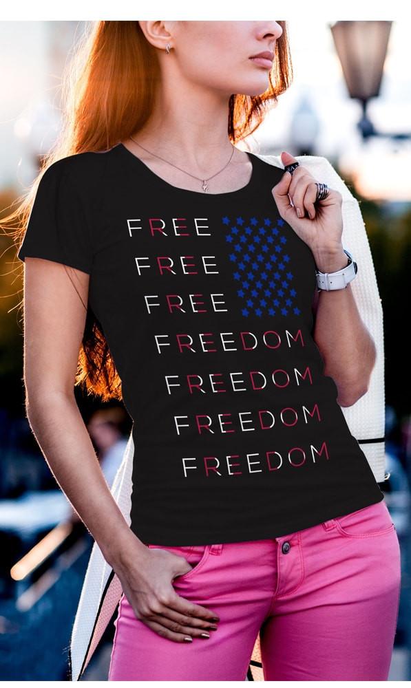Freedom Flag tee street image