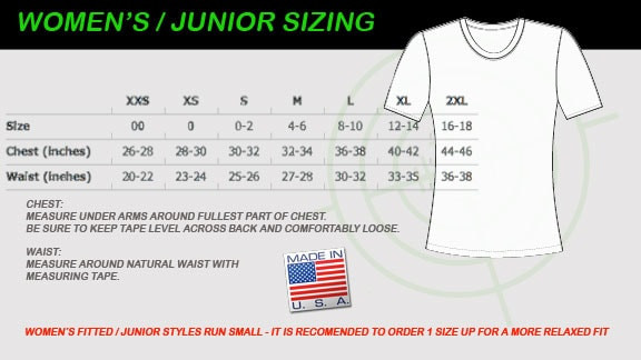 Womens fitted size chart