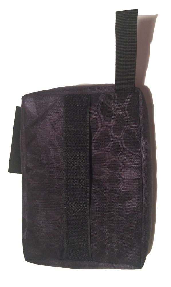Rear sand rifle support bag - back view