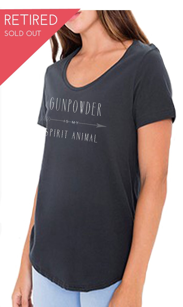 Charcoal Gunpowder is my Spirit Animal slouchy style tee