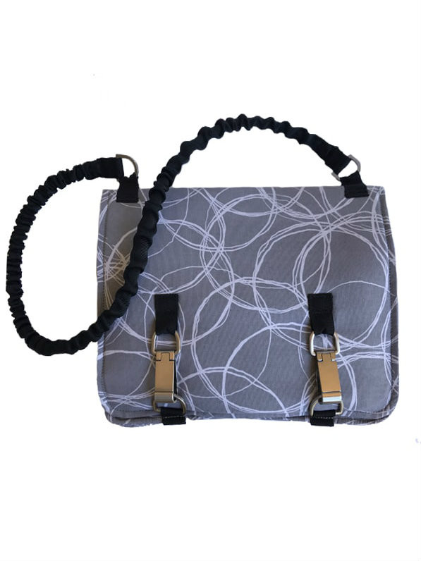 NORB (No Ordinary Range Bag) in Greystone Swirl Fabric Front New