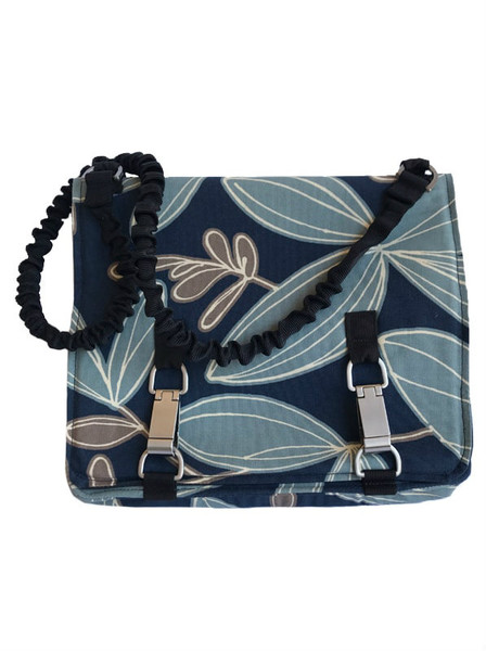 NORB (No Ordinary Range Bag) Indigo Island Fabric Front New