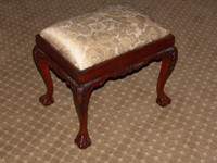Hand Carved European Reproduction of an Antique 23 Inch Bench