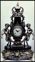 Imperial Clock & Candelabra - Marble, Crystal, Porcelain & Ormolu Finishes