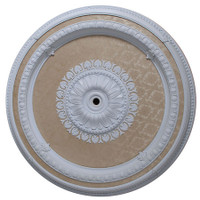 Architectural Accents, Round 47 Inch White Damask Decorative Ceiling Medallion