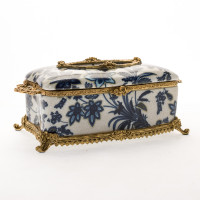 Lyvrich - Collection: Blue and White Flora with Soft Gold - HJ 6553