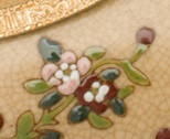 Lyvrich - Collection: Hand Painted, Clustered Flowers, Tan - HJ 6577