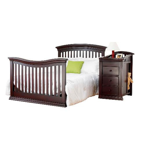 Sorelle verona crib changer adult bed rail for Cradle bed for adults
