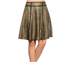 A GOLDEN LACE SKIRT