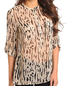 SHEER SPOTTED LYNX TOP