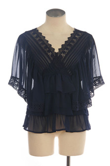 BLUE MONDAY LACE TOP
