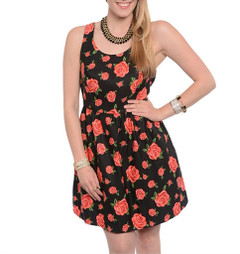 BUNCH OF ROSES DRESS (PLUS+)