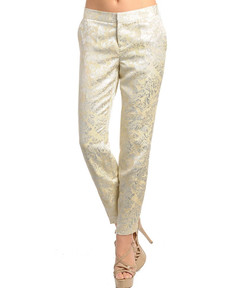 BROCADE CIGARILLO PANTS