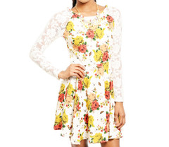 LACED IN ROSES DRESS