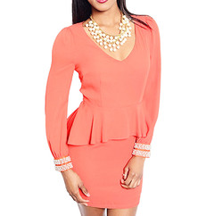 POPPY PEPLUM DRESS