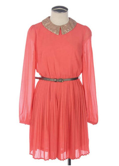 PEACH BELLINI BRUNCH DRESS