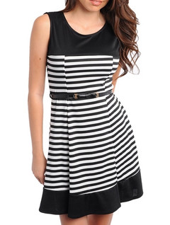 I HEART STRIPES DRESS