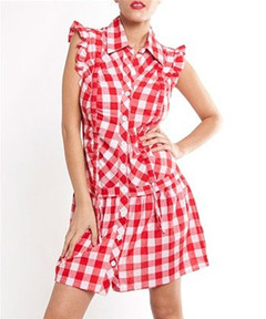 PICNIC IN THE PARK PLAID DRESS