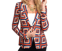 POP ART SHEER BLAZER