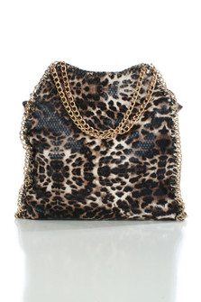 CHEETAH CHIC CHAIN TOTE