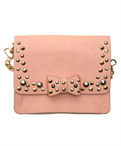 PINK STUDDY BOW PURSE