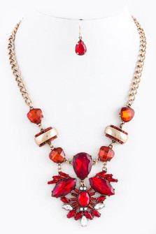BAROQUE RHINESTONE NECKLACE SET