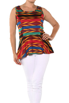 TRIBAL CHIC PEPLUM TOP