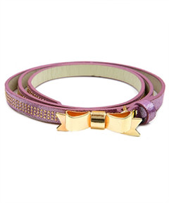 LAVENDER GOLD BOW BELT