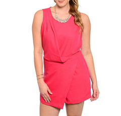 POLISHED POPPY ROMPER (PLUS+)