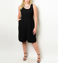 BLACK IS THE NEW BLACK ROMPER (PLUS+)